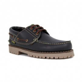 Black Leather Boat Shoes 1