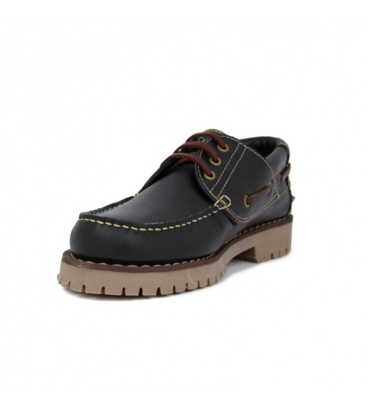 Black Leather Boat Shoes 3