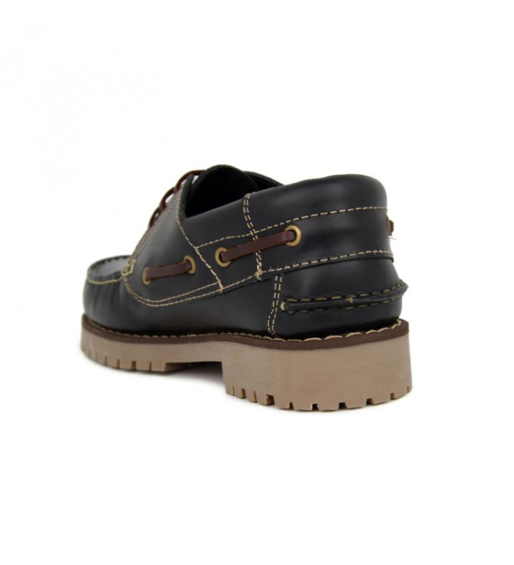Black Leather Boat Shoes 4
