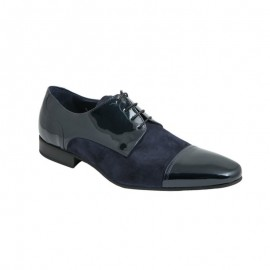 Men patent leather shoes and marine split