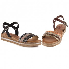 Tekila gel leather sandals