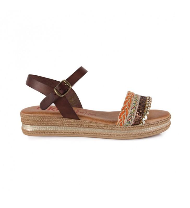 Tekila gel leather sandals 1