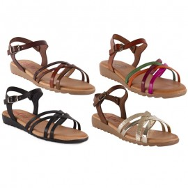 Woman sandals comfortable leather