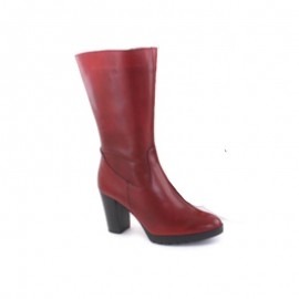 Boots Woman Leather Red Heel bda 1