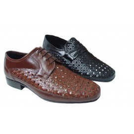Zapato hombre vestir trenzado piel