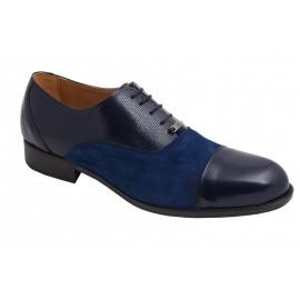 Zapatos Caballero Marino Piel Ante