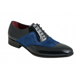 Suede and Patent Leather Groom Shoes