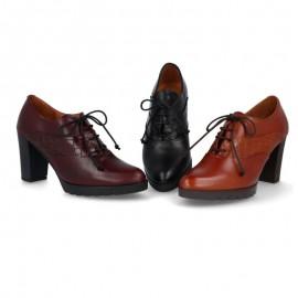 Zapatos mujer tacón cordones