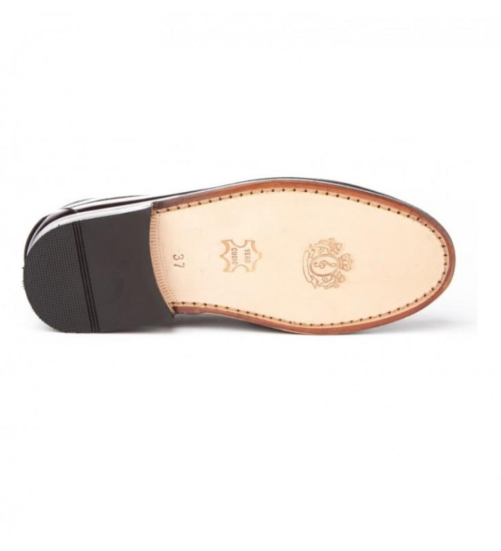 Zapatos castellanos suela cuero