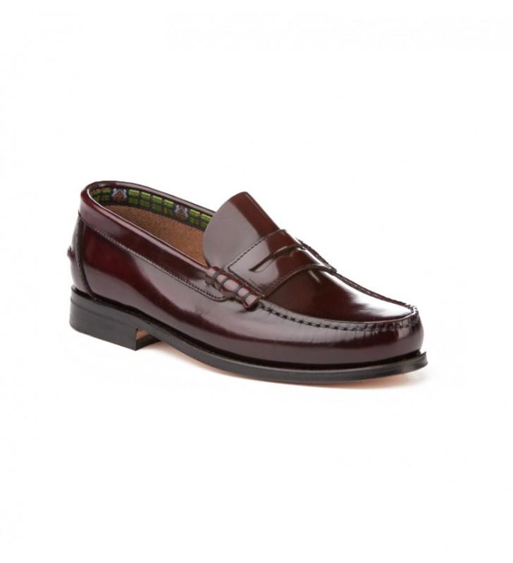 Zapatos castellanos suela cuero burdeos 1