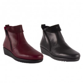 Comfortable wedge woman ankle boots
