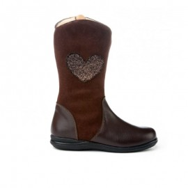 Brown Leather Girl Boots