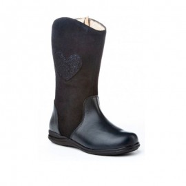 Girl Boots Marine Leather