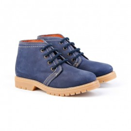Leather boy safari boots
