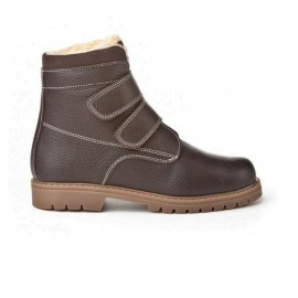 Velcro leather safari boots