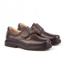 Brown boy school shoe