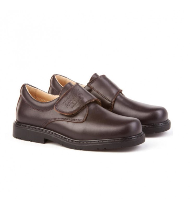 Brown boy school shoe