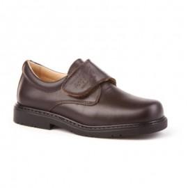 Zapato colegial niño marrón