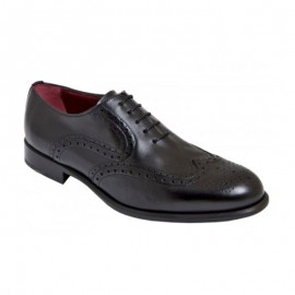 Black oxford shoes leather sole