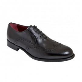 Zapatos oxford negro suela cuero