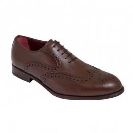 Oxford mahogany sole leather shoes