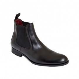 Ankle boots man chelsea sole leather