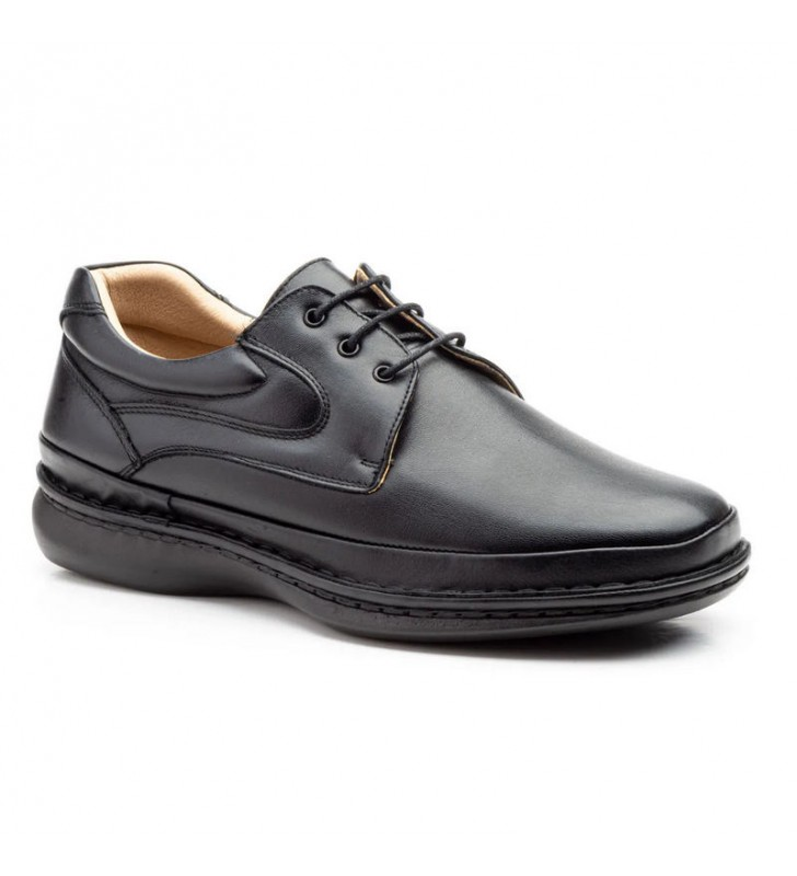 Zapatos cómodos cordones piel
