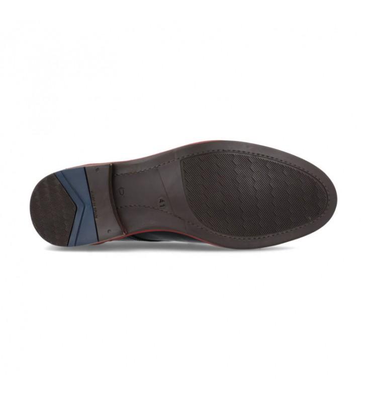 Men's leather heel shoe