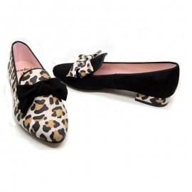 Slippers mujer piel leopardo