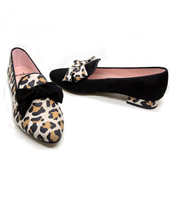 leopard skin slippers