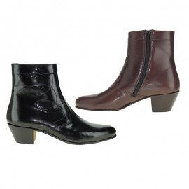 Cuban heel ankle boots