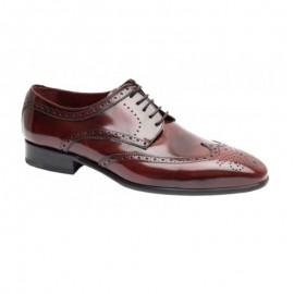 Zapatos Caballero para traje burdeos