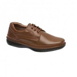 Zapatos cómodos cordones piel cuero