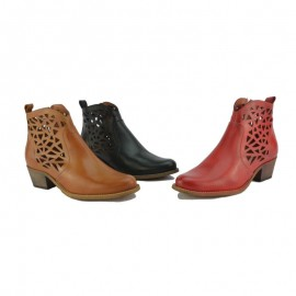 Booties Woman Leather Cheap