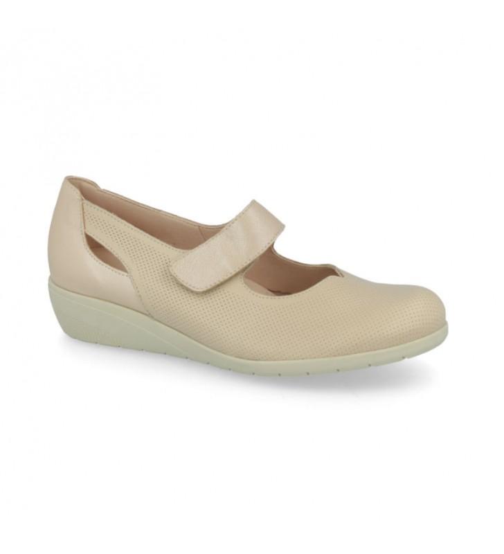 Comfort woman velcro shoes