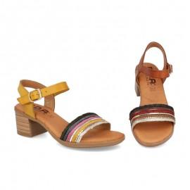 Sandalias tacón bajo cómodas