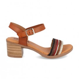 Comfortable low heel sandals