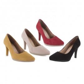 Zapatos Salón Cómodos Piel Ante