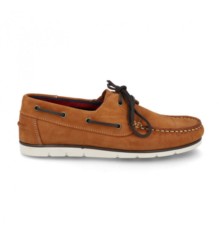 Man leather boat shoes 1