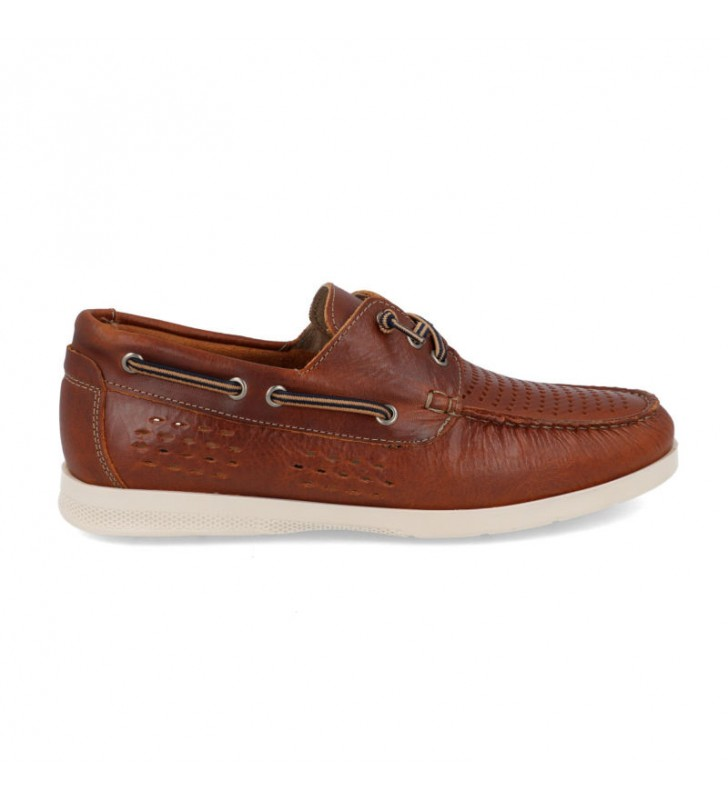 Man breathable leather boat shoes 1