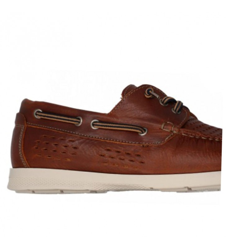 Man breathable leather boat shoes 2
