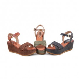 Women wedge esparto sandals