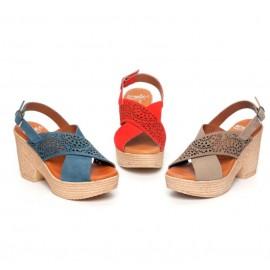 Platform and heel sandals