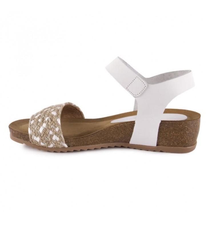 Sandalias bio velcro blanca 2