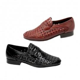 Zapato piel trenzado ancho especial