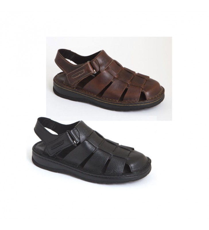 sandalias-hombre-piel-velcro
