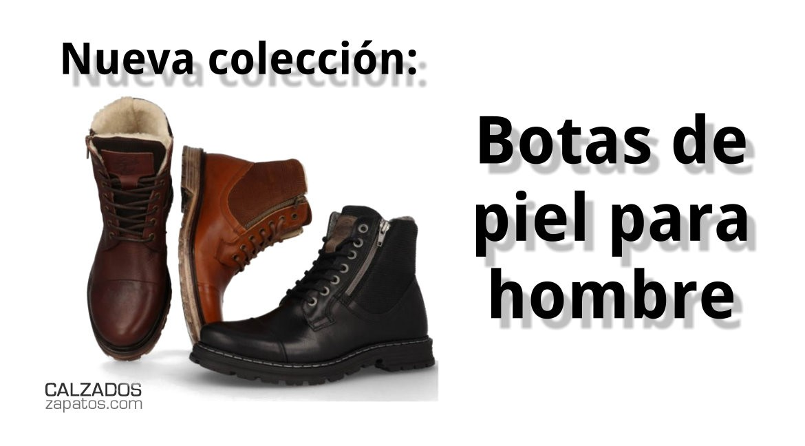 Leather boots for men new collection